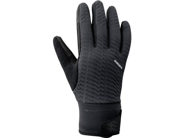 Shimano Windbreak Thermische Reflecterende Handschoenen Heren, black